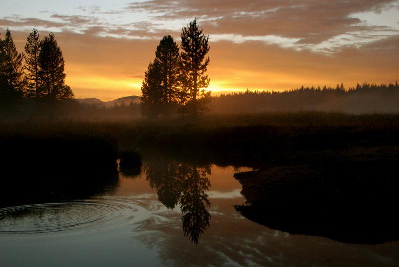 Sunset over Tuolumne Meadows