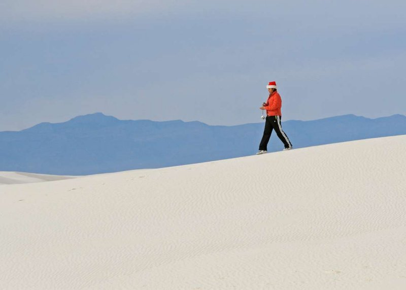 Christmas time on the dunes at White Sands