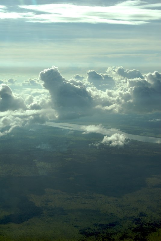 Clouds over the Oubangi River