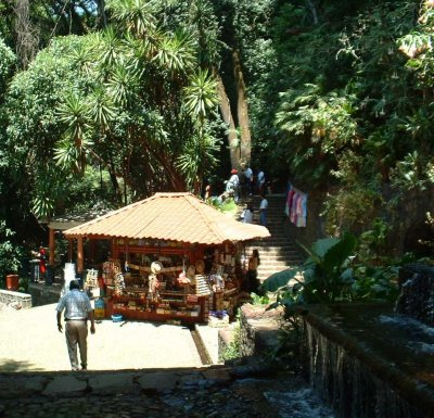 Parque Nacional: Souvenir stand in the jungle