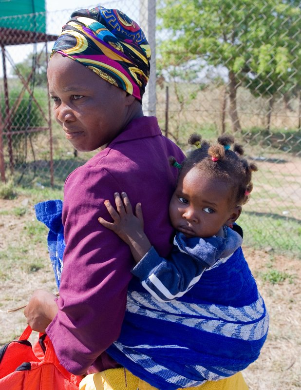 Mother & Child  at Swaziland Border