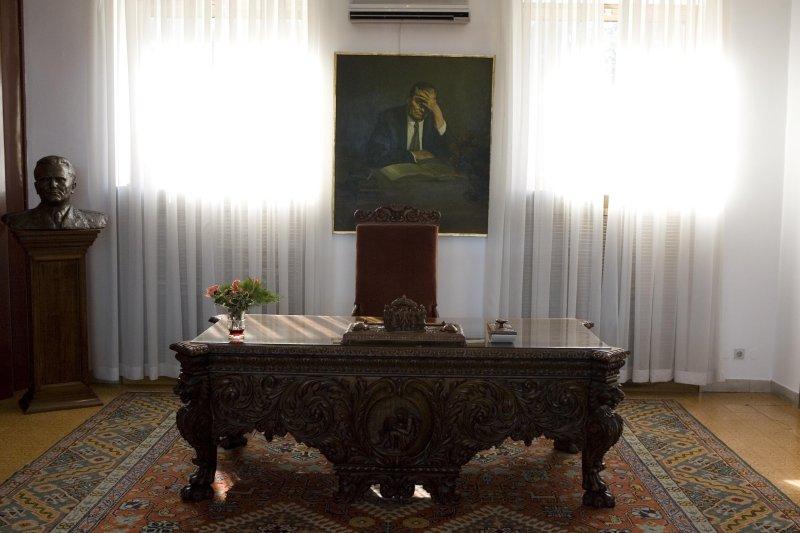 Titos desk, Belgrade, Serbia