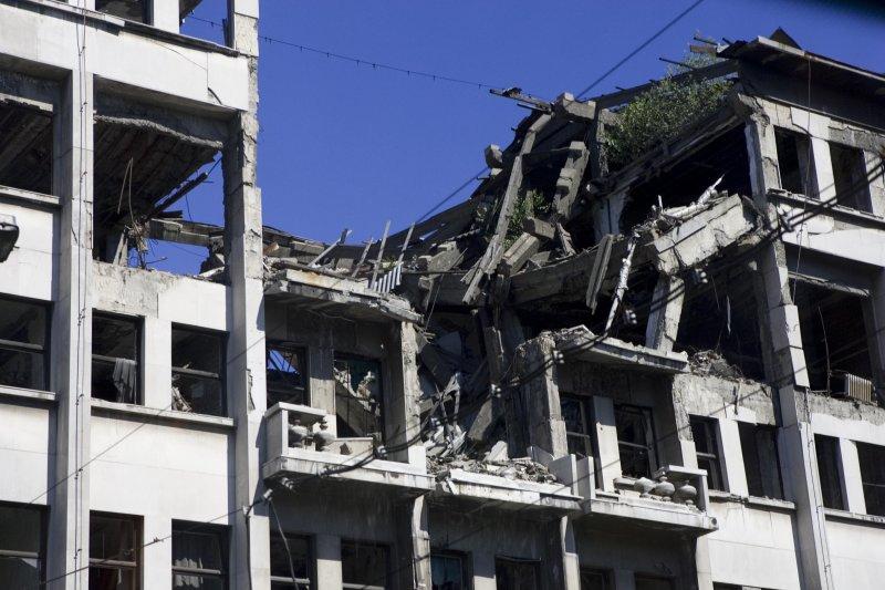 Bomb Damage- Belgrade, Serbia