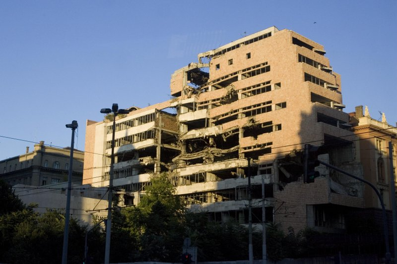 Bombed Buildings 2, Belgrade. Serbia
