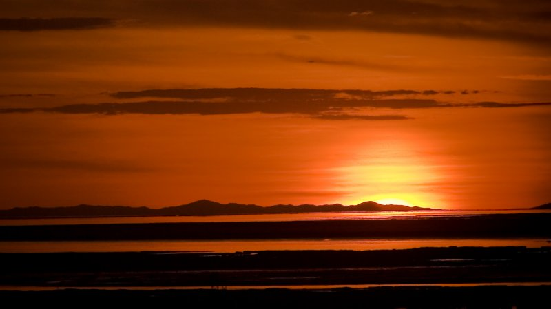 Tonights Sunset. Over Antelope Island