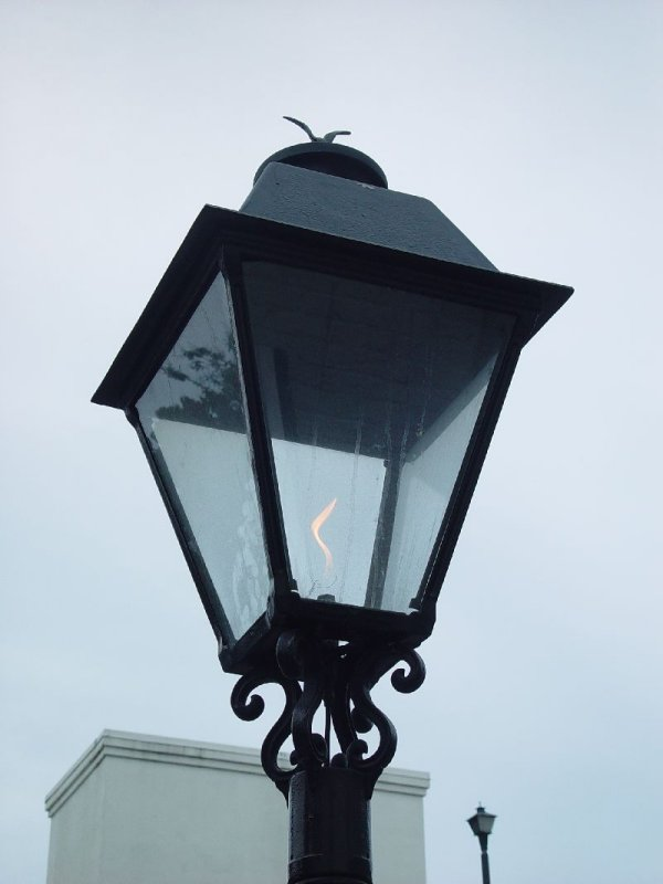 WE LOVED THE GAS LIGHTS THAT LINED THE STREETS OF SAVANNAH