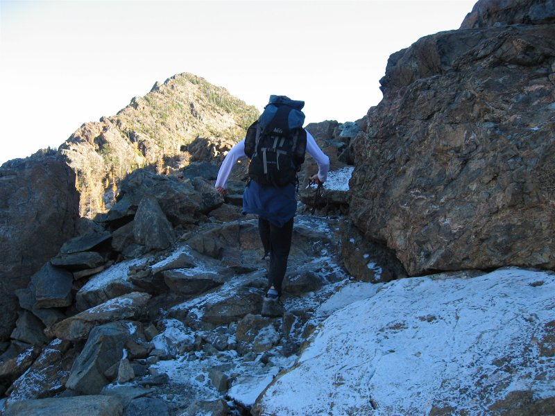 Snowy Rocky Section
