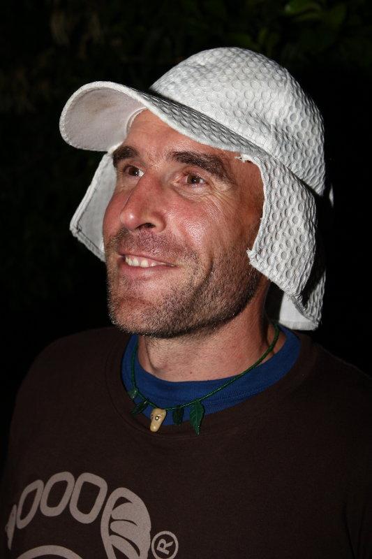 BFT wearing Piotrs<br>handmade hat</br>