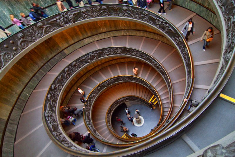 Michelangelos winding stairs. Vatican. Rome