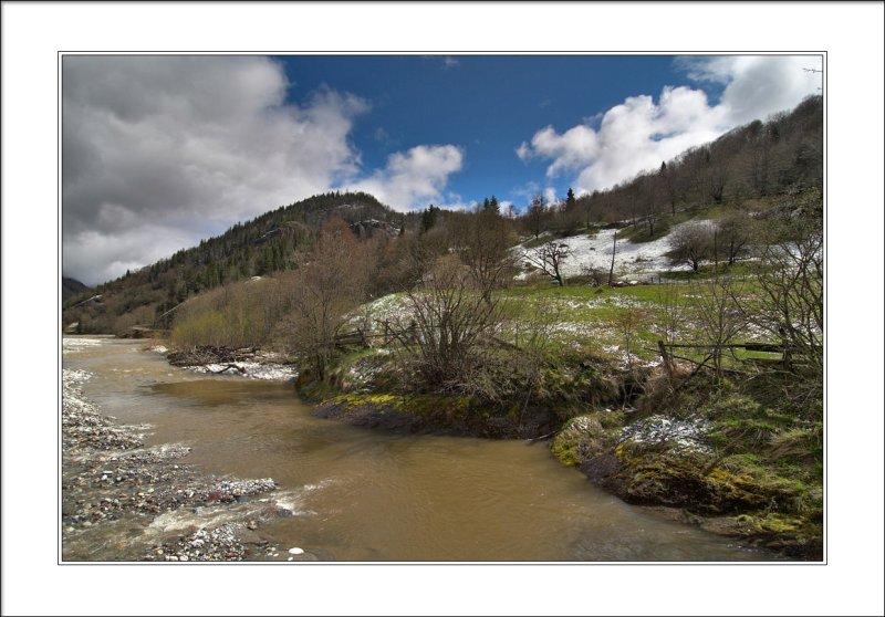Big Laba river near Rozhkao settlement