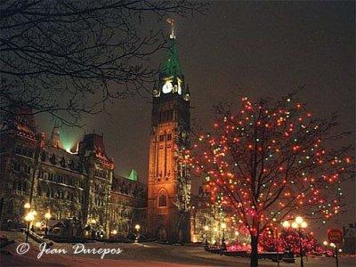 Parliament Hill during Festive Season