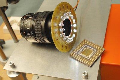 Closeup macro AF60/2.8D+ custom LED light ring