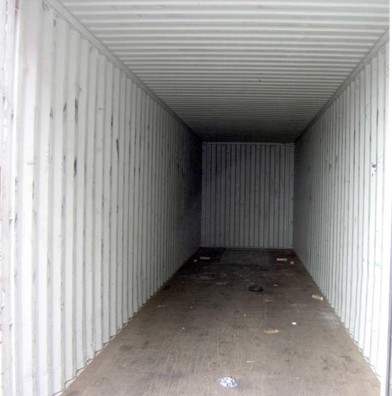 In side a container 40
