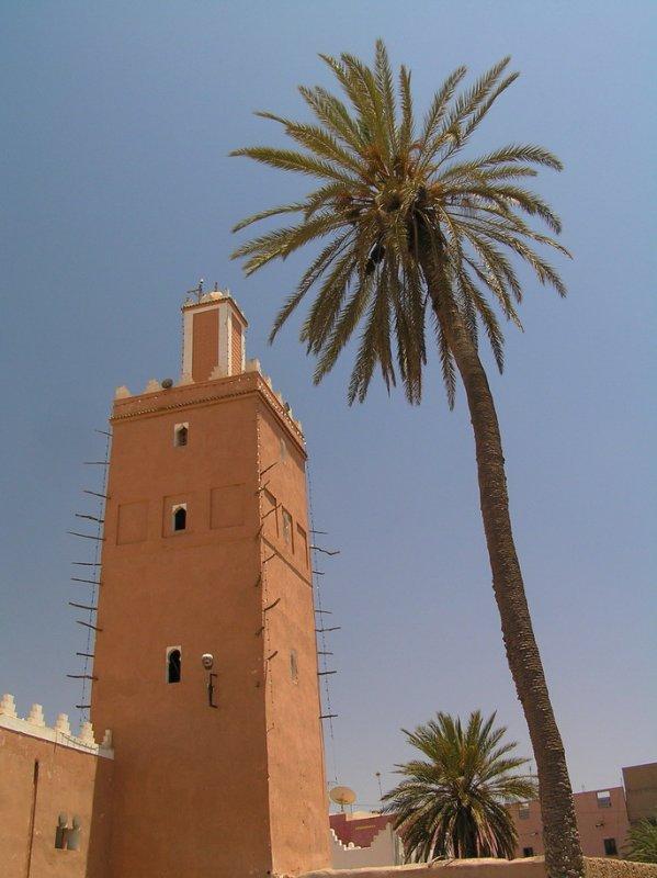 Minarett of the Grande Mosquée in Tiznit