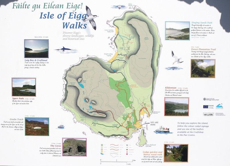 Eigg Map Photo Steve Goldthorp Photos At Pbase Com