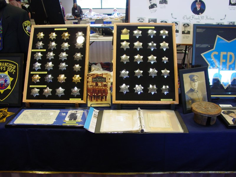 award wining display by Mike, whos on his way to the best SFPD collection, if not yet.