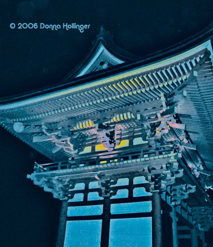 Kiyomizu tower  at night