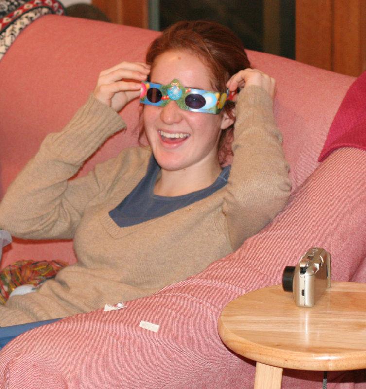 Abbie having fun