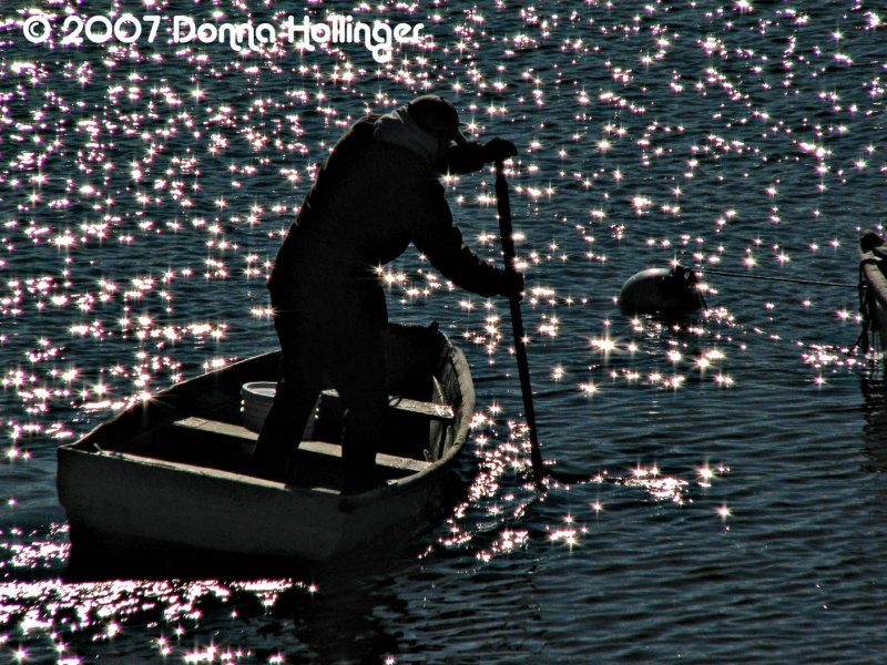 Fisherman on Rockport Shore