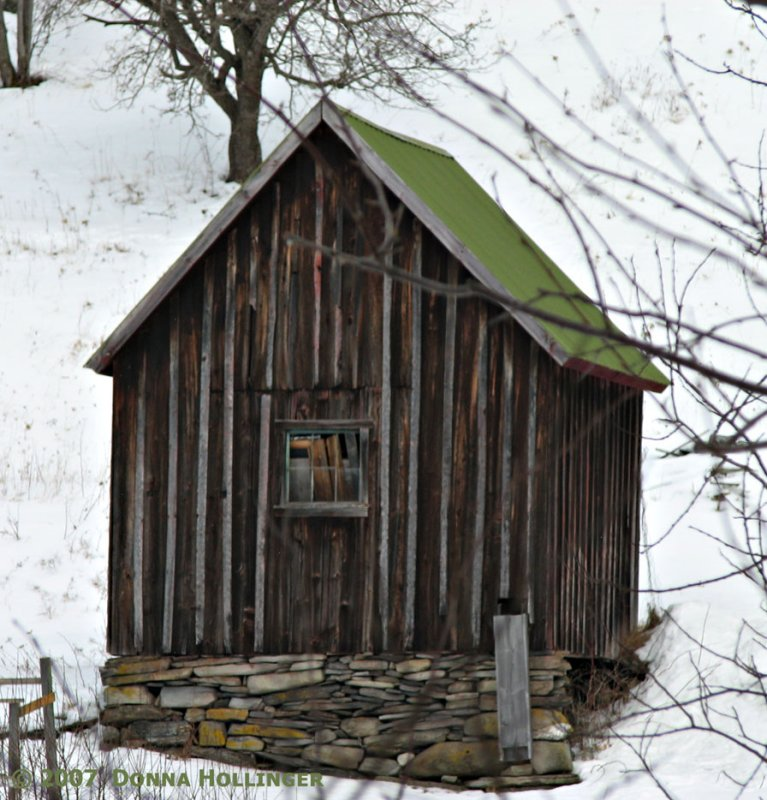 The toolshed in snow