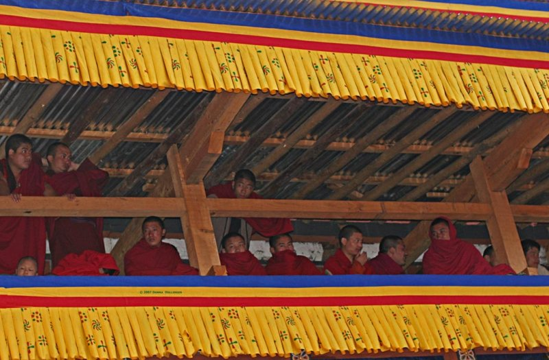 Monks in the rafters