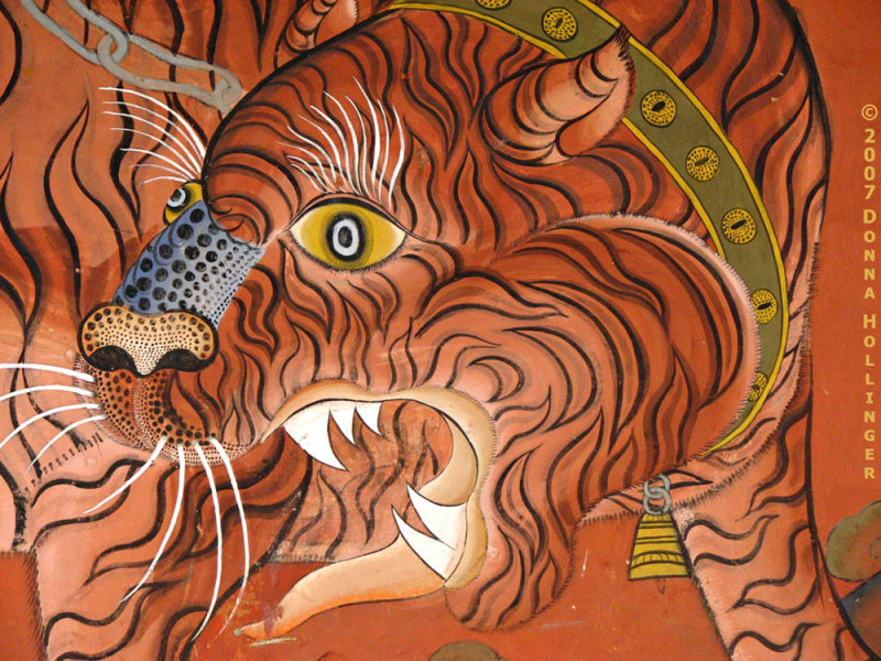 Dzong Wall Fresco, Tiger