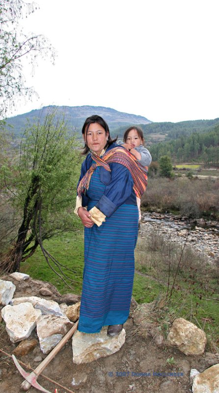 Bhutanese Mother and Child