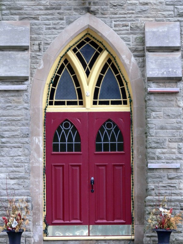 Church door in Port Credit....