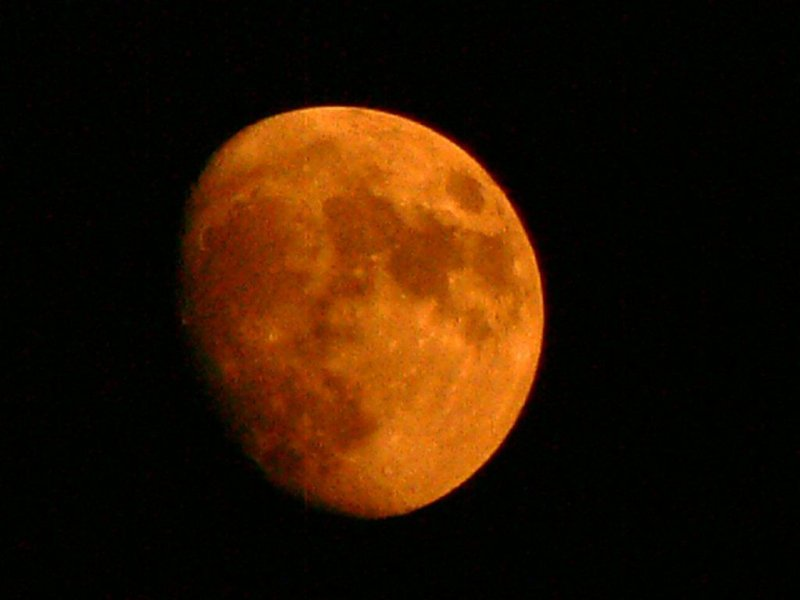 The moon on a hot June night....