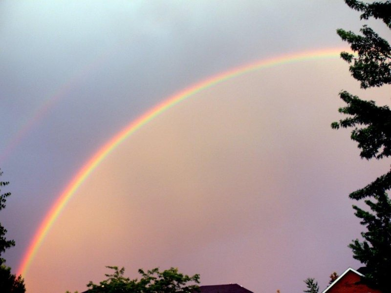 Somewhere over the rainbow.....