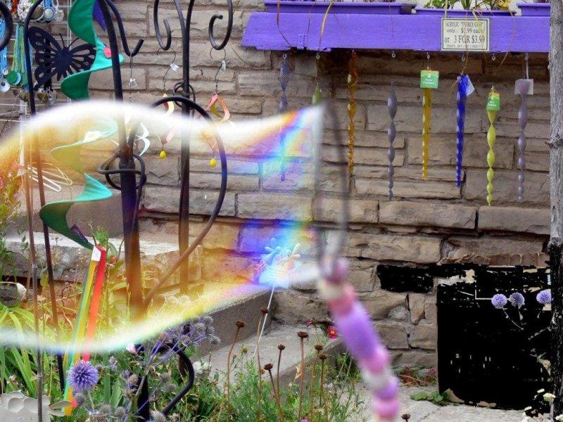 Blowing bubbles....
