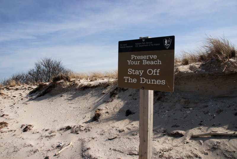 stay off the dunes