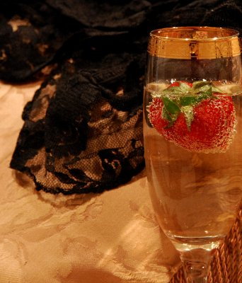 strawberries and lingerie