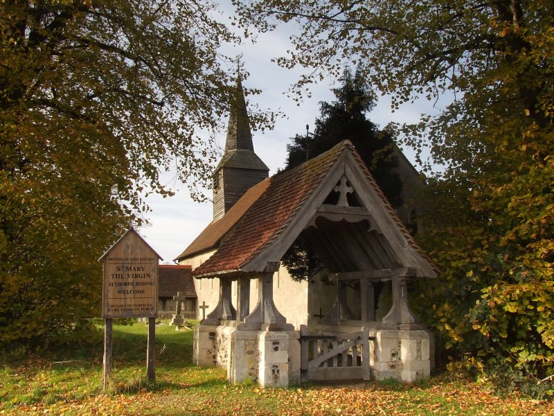 Lychgate,with Church building behind