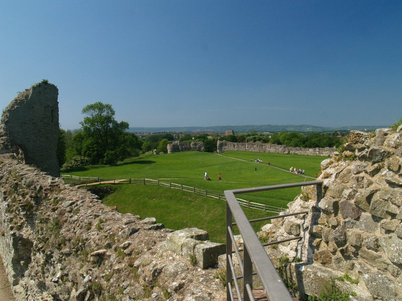 The South Downs from Pevensey Castle