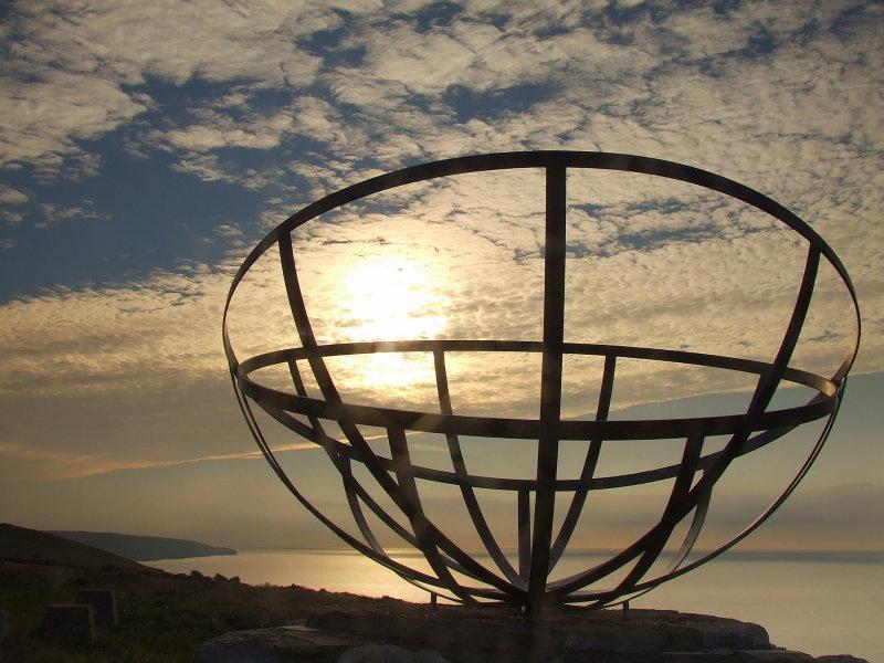 Radar memorial on St.Aldhelms Head.