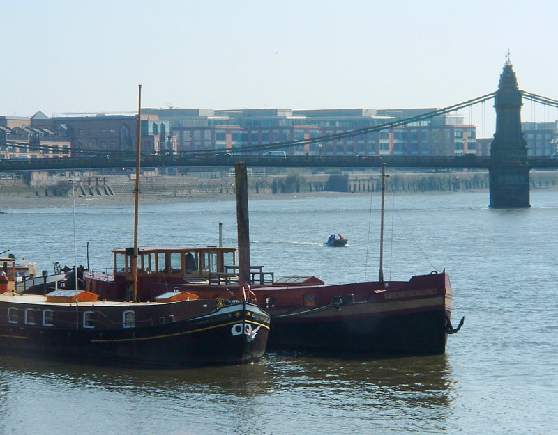 Barges on the Thames,at Hammersmith.