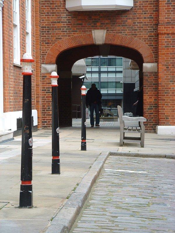 Street furniture in Gough Square,EC4.