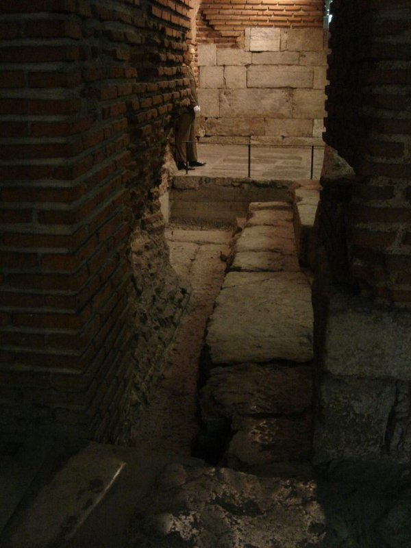 Roman ruins under the streets