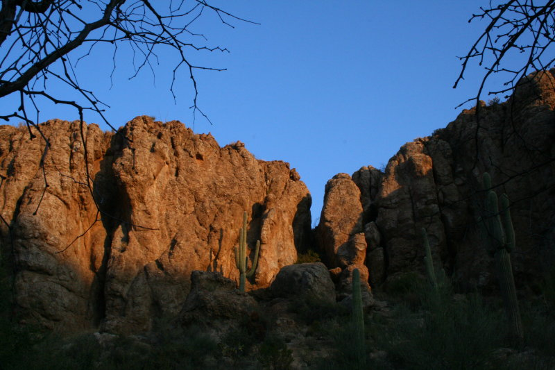 Early morning shot of the south side of Magma Ridge