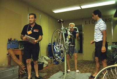 Cassani and his bike
