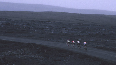 Through the crater
