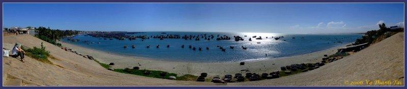 Mui Nes fishing fleet (panorama)