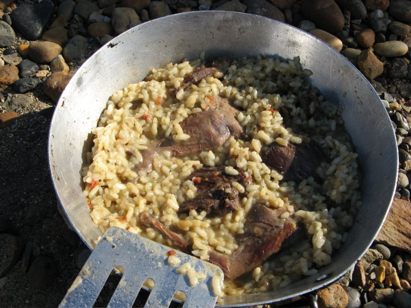 Ptarmigan and risotto