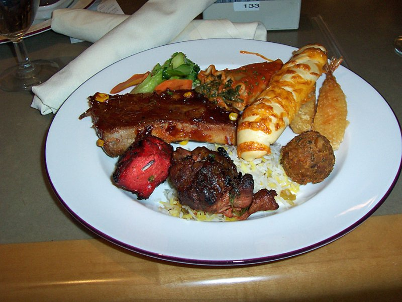 Planet Hollywood dinner buffet