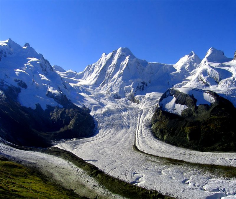 Glacier In Swiss Alps