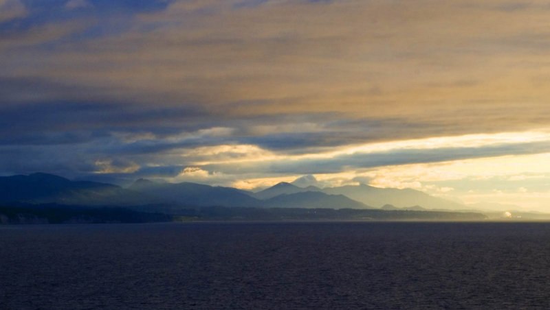Strait of Juan de Fuca and Olympic Mountains