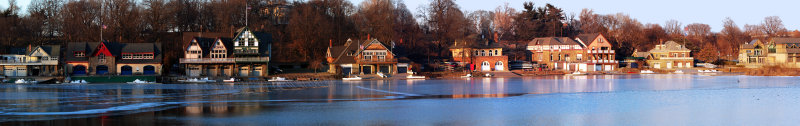 Winter at Boathouse Row