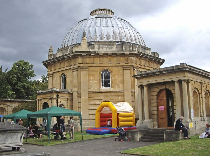 Chapel and bouncy castle