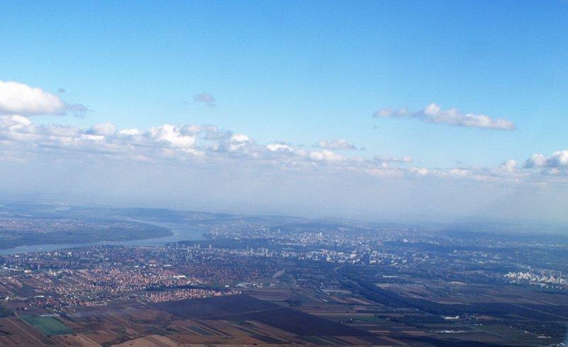 Belgrade from its sky